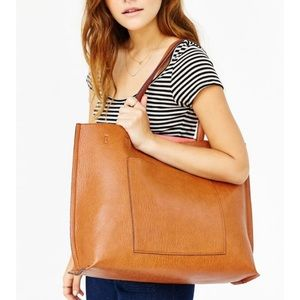 URBAN OUTFITTERS- Reversible Faux Leather Tote Bag